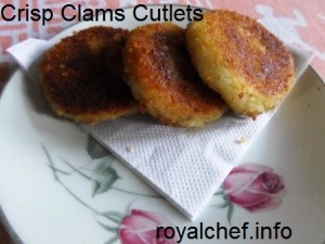 Konkani Style Clams Cutlets