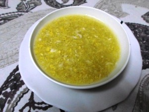 Egg Sweet Corn Soup