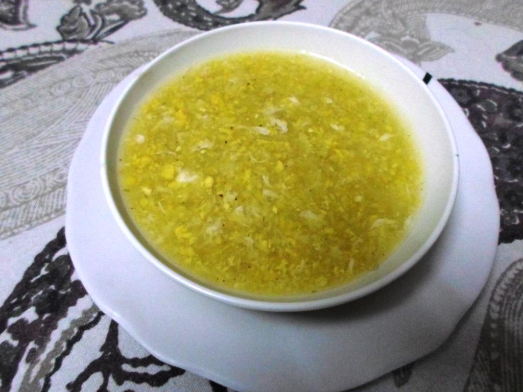Egg Sweet Corn Soup