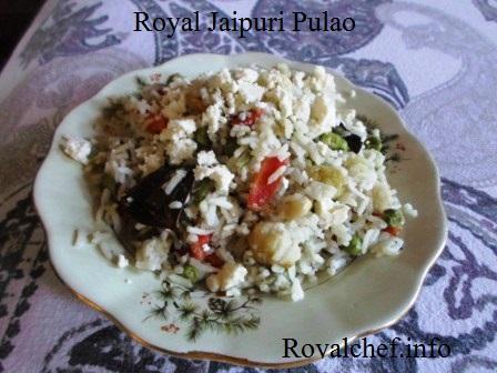 Traditional Jaipuri Pulao