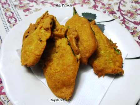 Crisp and Tasty Spinach Leaves Pakode