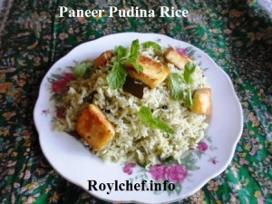 Mint Leaves- Cottage Cheese Rice Dish
