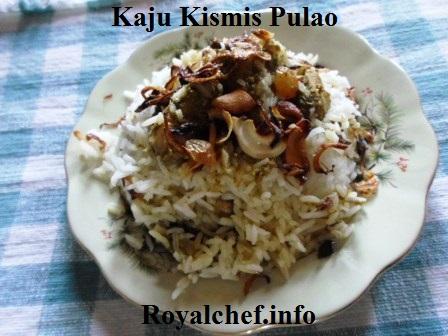 Cashew nuts and Raisins Pulao