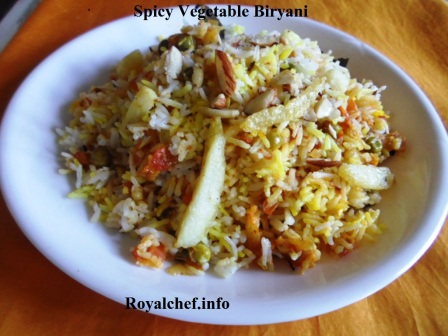 Delicious and Spicy Vegetable Biryani