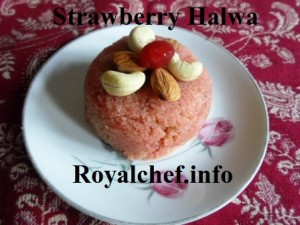 Strawberry Halwa Sheera