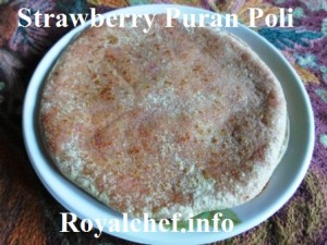 Sweet and Delicious Strawberry flavored Puran Poli