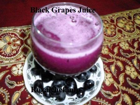 Fresh Black Grapes Juice