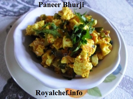 Paneer or Indian Cottage Cheese Vegetable dish