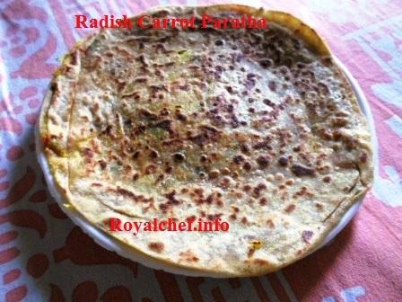 Carrot Radish Paratha