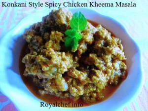Traditional Konkani DtyleChicken Kheema Masala