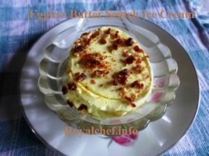 Eggless Butterscotch Ice Cream