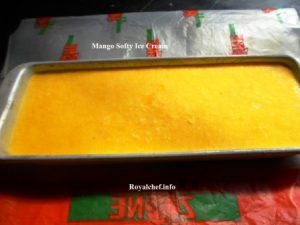 Homemade Mango Softy Ice Cream