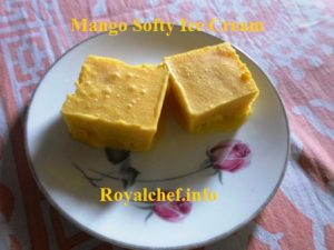 Homemade Soft Mango Ice Cream