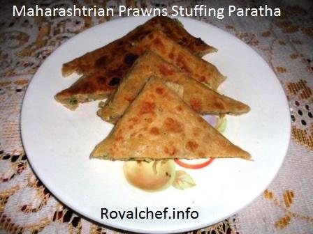 Konkani Prawns Stuffing Paratha
