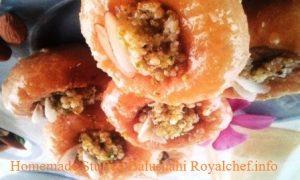 Tasty Homemade Stuffed Balushahi
