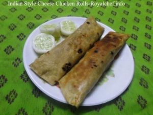 Tasty Indian Style Cheese Kathi Chicken Rolls