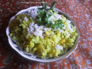 Fried Eggs Kande Poha