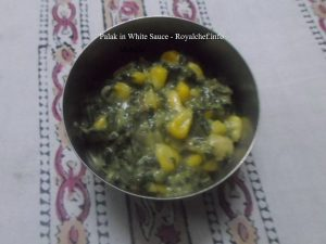 Spinach in White Sauce