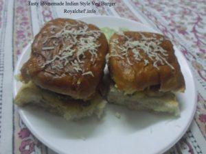Indian Style Veg Burger