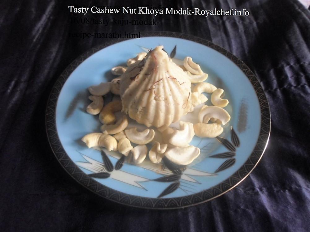 Tasty Cashew Nut Mawa Modak