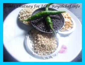 Dry Chutney for Idli