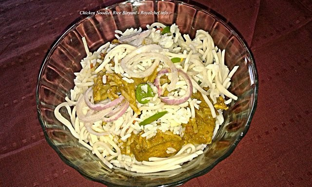Chicken Noodles Rice Pulao
