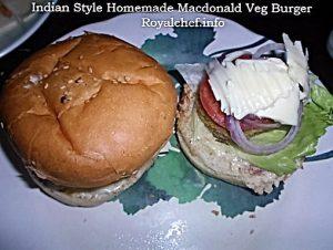 Macdonald Veg Burger
