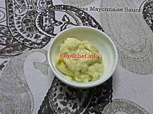 Homemade Mayonnaise Sauce Recipe