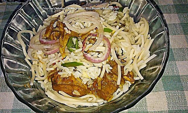 Delicious Chicken Noodles Rice Biryani