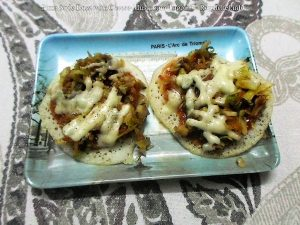 Pizza Style Dosa with Cheese-Mushroom
