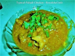 Typical Pahadi Chicken