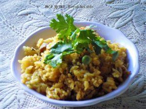 Maharashtrian Fresh Green Peas Pulao