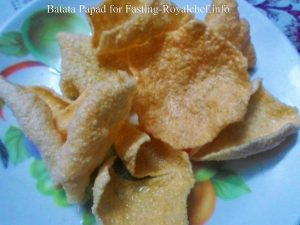Batata Papad for Fasting