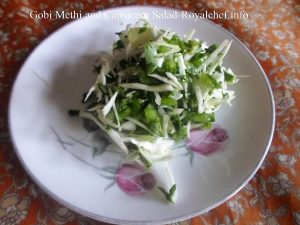 Cabbage Methi Capsicum Salad