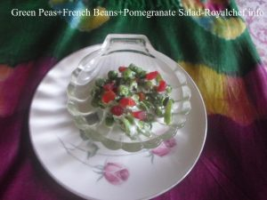 Green Peas French Beans Pomegranate Salad