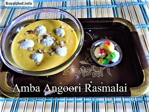 Mango or Amba Angoori Rasmalai