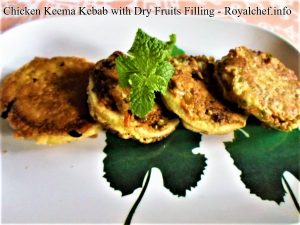 Keema Kebab with Dry Fruits Filling
