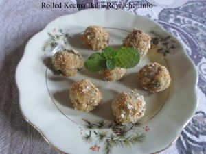 Crispy Rolled Chicken Mutton Keema Balls