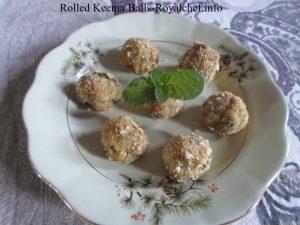 Crispy Rolled Keema Balls