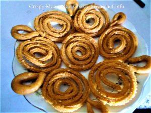 Split Green Gram or Moong Dal Chakli