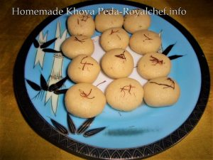 Homemade Khoya Peda