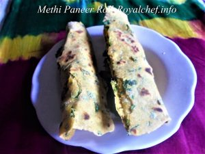 Methi Paneer Roll for Snacks