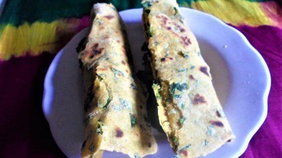 Methi Paneer Roll for Snacks