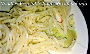 Vegetables Noodles Soup