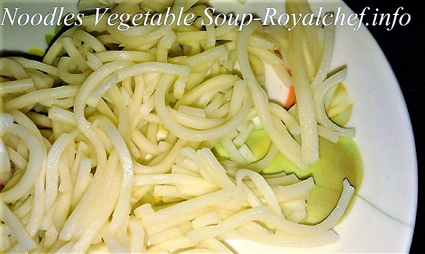 Vegetables Noodles Soup