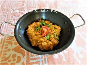 Onion Sabzi