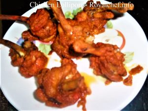 Indian Style Masaledar Chicken Lollipop.