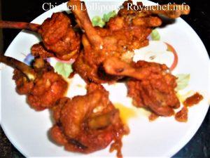 Indian Style Masaledar Chicken Lollipop.