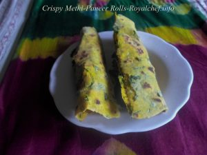Fenugreek Cottage Cheese Rolls