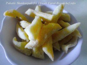 Shankarpali in Sugar Syrup for Diwali Faral